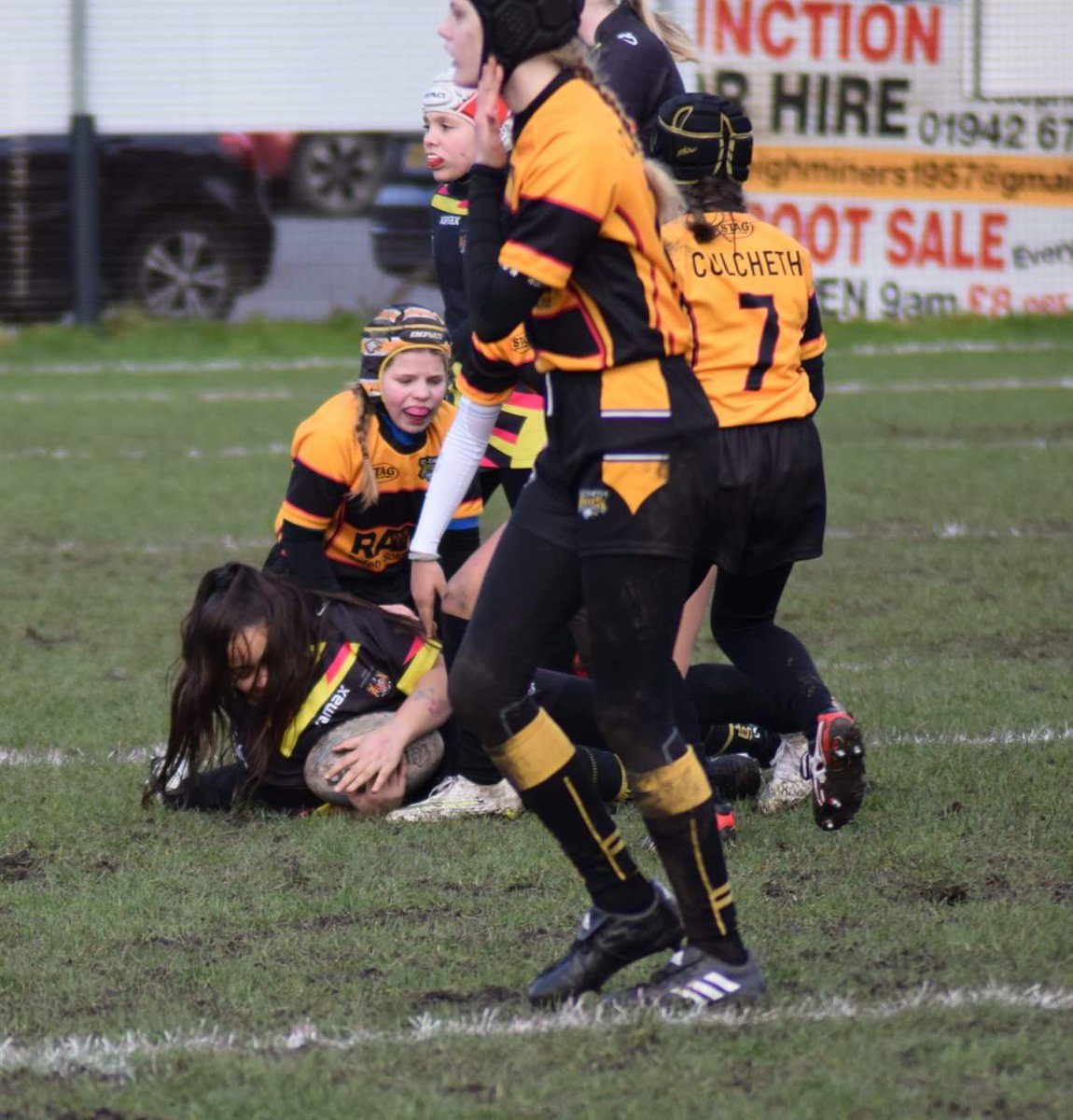 Game day for these awesome @CulchethEagles girls. Looking forward to playing with @AshtonBears, one of the girls favourite opponents. Kick off 1pm at shaw Street, Culcheth if anyone wants to come and support. Followed by our open age vs Unicorns!  #GirlsCan #MoreThanAGame