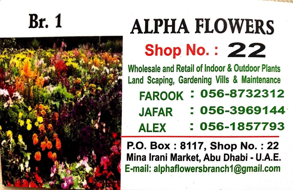 Alpha Flowers Abu Dhabi (@AlphaDhabi) | Twitter