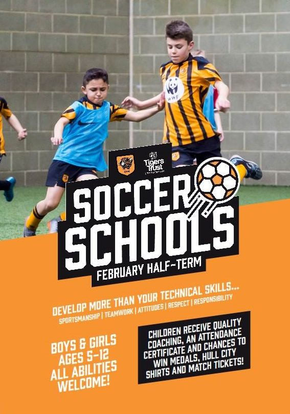 Keep the kids busy this half-term by booking them onto our Soccer Schools! ⚽  Sessions are running from 18th - 22nd February 📅  Prices start at just £35!  Secure a place via our website: http://tigerstrust.co.uk/#bookings