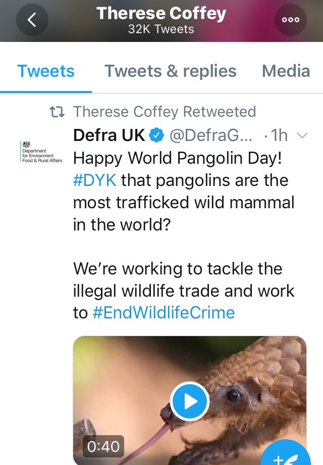 Proof that @theresecoffey is against wildlife Crime #endWildlifeCrime  <br>http://pic.twitter.com/cGrgI5FkM6