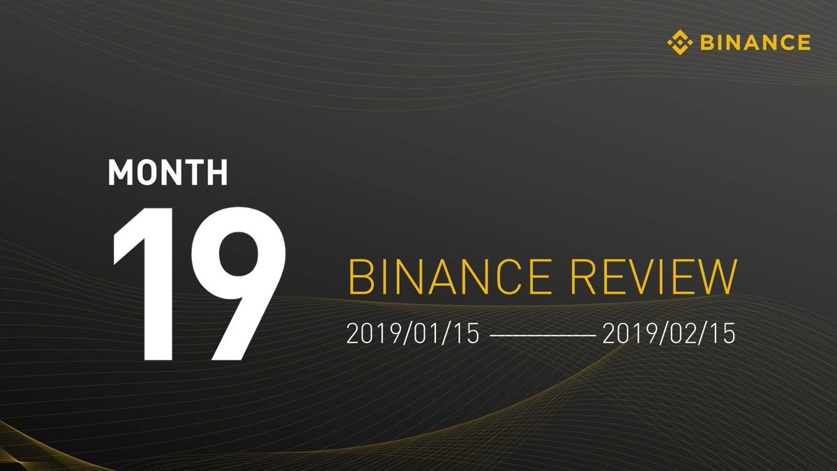 #Binance Monthly review - Month 19  - $BNB Soars to top 10 by Mcap - $BTC, $ETH, $LTC & $XRP credit card purchases now available - Binance Chain & @Binance_DEX updates - $BTT Launchpad token sale complete - Listings, Delistings & more below 👇 https://www.binance.com/en/blog/303459928086564864/Binance-Review%E2%80%8A-%E2%80%8AMonth-19 … …