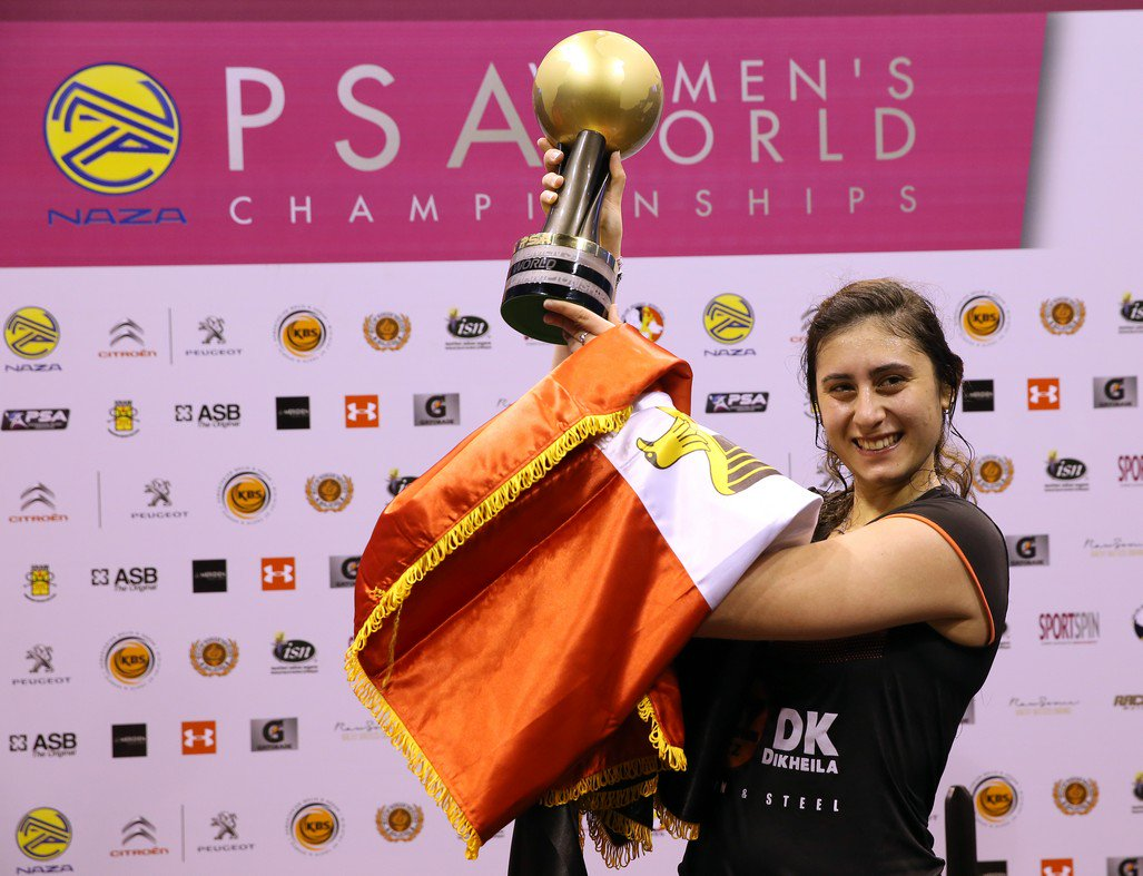 """test Twitter Media - 🗣 """"I feel very honoured to have won.""""  @noursherbini talks us through her record-breaking World Championship win over @ljmassaro in Kuala Lumpur three years ago 🏆  She became the first Egyptian woman to ever win the sport's biggest title 🇪🇬  More ➡️ https://t.co/kLtyvbPJwO https://t.co/3utTX5OXvq"""