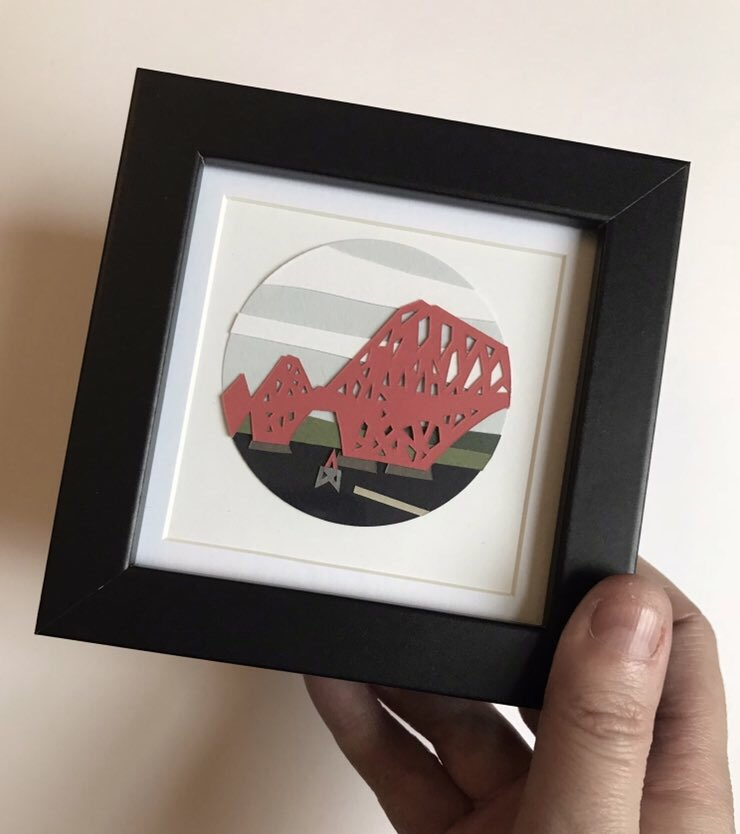 Morning, hope everyone has a lovely weekend whatever you are up to !!  #art #design #creativity #paper #paperart #papercraft #papercut #landscape #construction #railway #forthrailbridge #etsy #etsyshop #etsyseller #northqueensferry #bridge #red #miniature