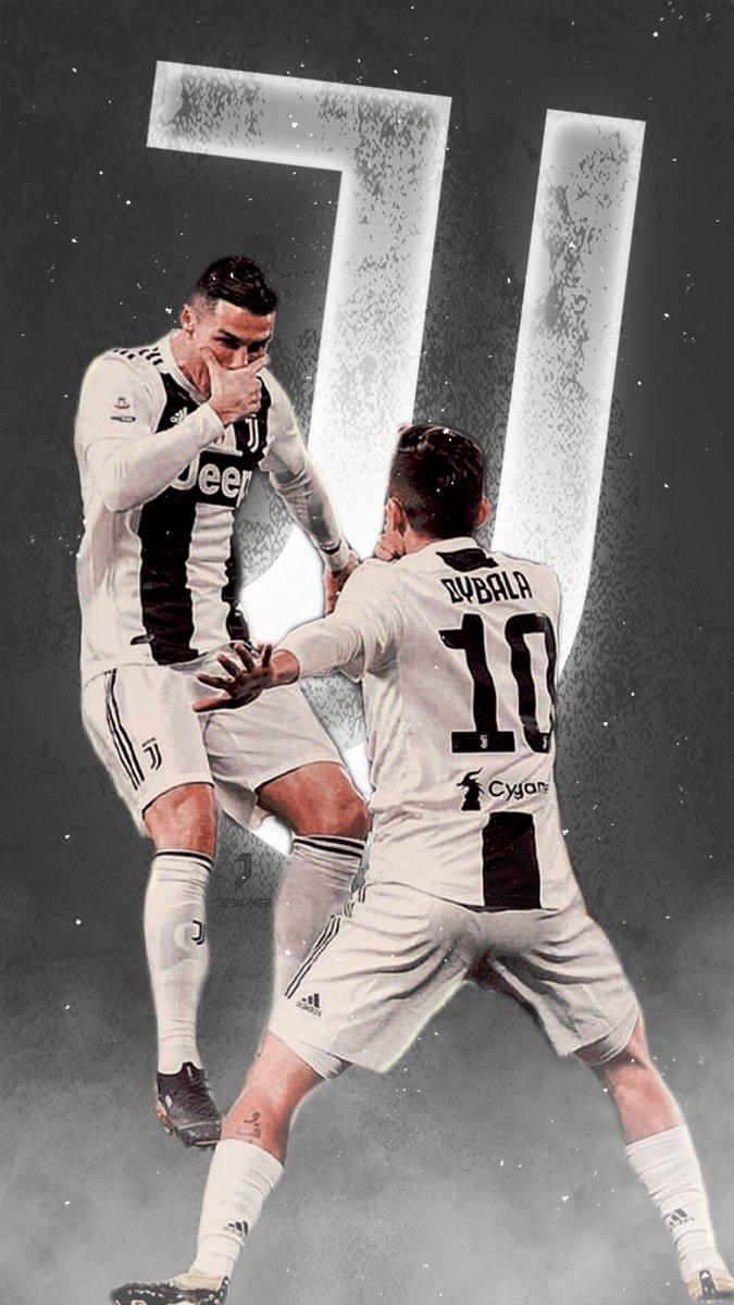 Juvedesigner Martina Auf Twitter What A Duo Dybala Ronaldo Juventus Wallpaper Forzajuve Finoallafine Cr7 Dybalamask Juvefrosinone