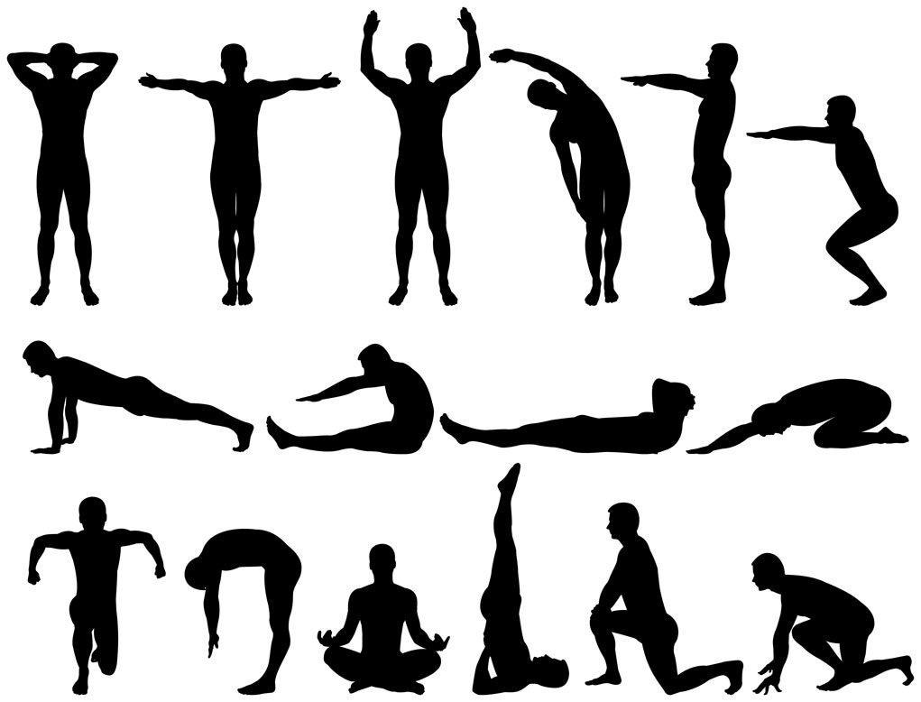 картинки физические упражнения людей время местонахождение