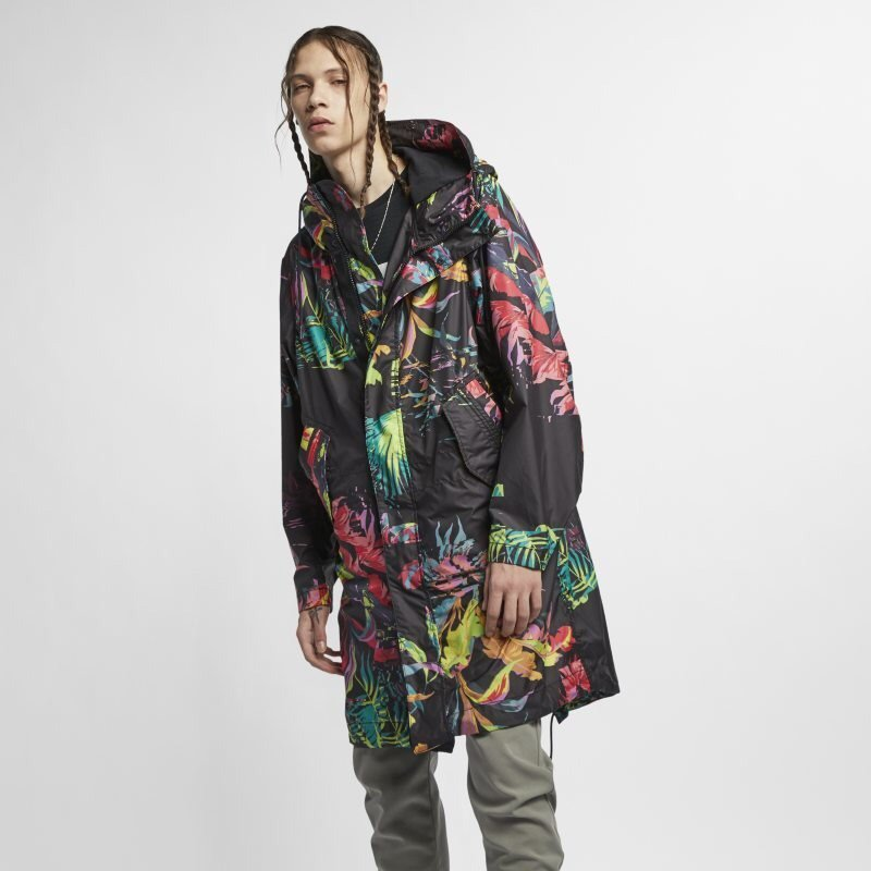 NIKE PARKA PRINT JACKET Designed with a camo-like palm tree print.  Available at The Athlete s Foot stores for men  nike  nikeparkajacket   forhim  للرجال ... 769cf4e9a