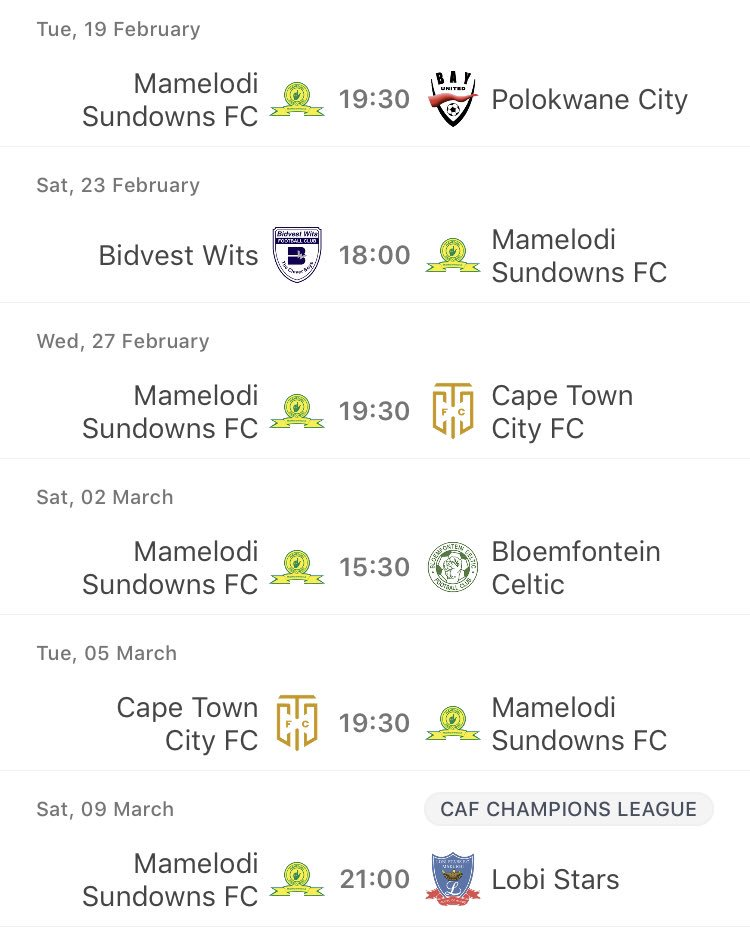 The next 6 games may decide our 9th PSL title and progress in CAF champs league