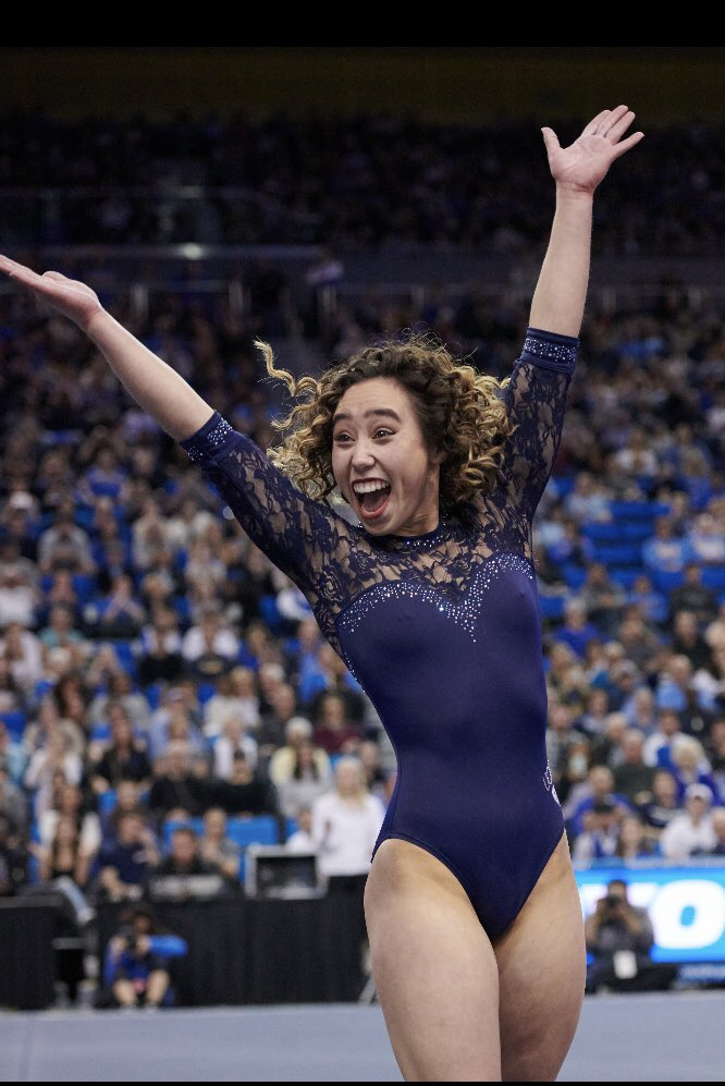 Thanks to @katelyn_ohashi and every other woman in NCAA Women's Gymnastics for bringing the JOY back to our sport. Please retweet if you agree with me!  #NCAAWGym @uclagymnastics @wcgagym #cggi