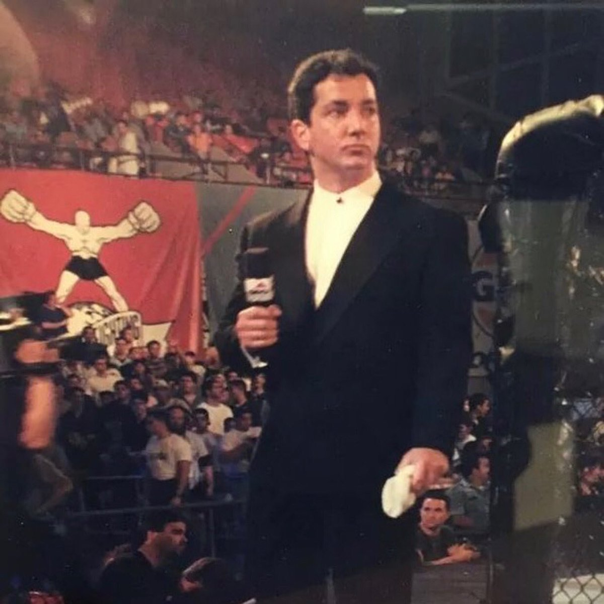 #OnThisDay in 1996...  The Voice of the Octagon @BruceBuffer made his debut at #UFC8.