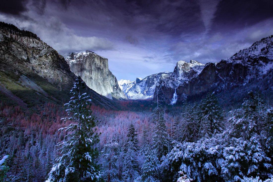 Άλλη μια μέρα τελείωσε...  Έκανες ό, τι μπορούσες... Αύριο είναι μια καινούργια μέρα...  Καλό βράδυ Another day is over... You did what you could... Tomorrow is a new day... Good evening  #photography James Donovan #Purple #night #NATURE #usa #Yosemite
