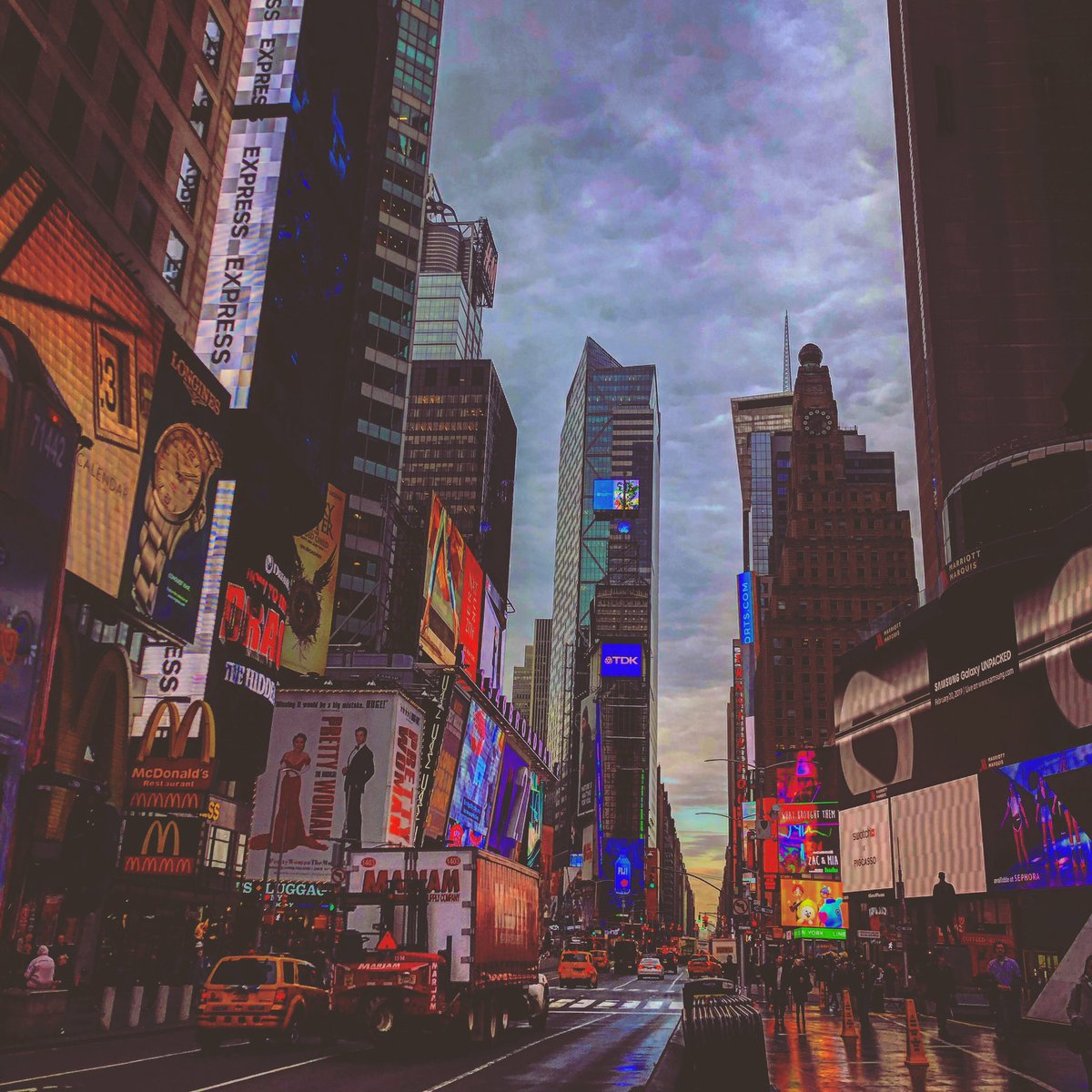 Took this the other day walking to work. Sunrise at the crossroads of the world. #NYC @TimesSquareNYC