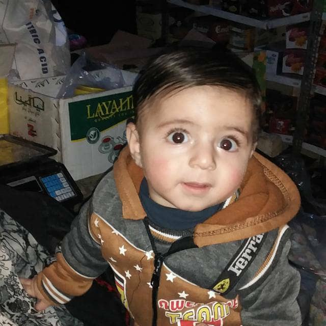 Abdul Majid Alaa al Qadi died after a fire broke out in the al Karama displacement camp in Idlib where he lived. The fire was caused by faulty heating as residents do their best to stay warm this winter amid severe shortages of aid
