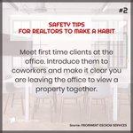 #Safety tips for #realtors to make a habit. #realtor #realestate