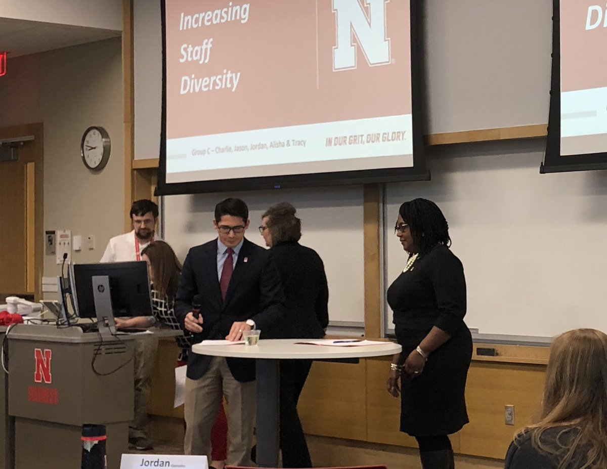 So many of the presentations at the last day of the Staff Leadership Academy referenced the core aspirations from the N150 Commission report. This group focused on the need to diversify our staff at UNL. Some great ideas for how we can do better. #WillingnessToAct