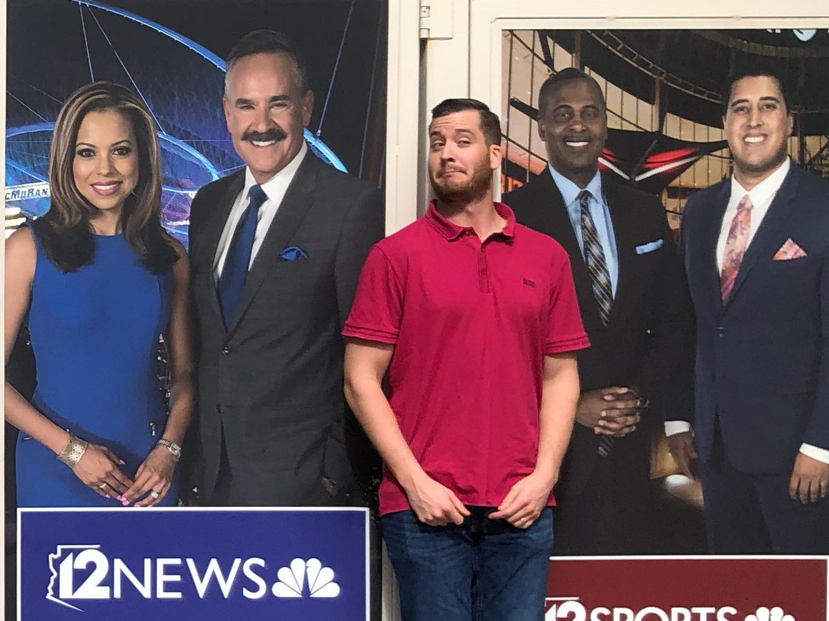 Coming to a television near you (if you're in #Phoenix): ME! Later this month I continue my TV journey as a weekend anchor at @12News in Phoenix. I think I'm fitting right in with my new co-workers, don't you? #12News