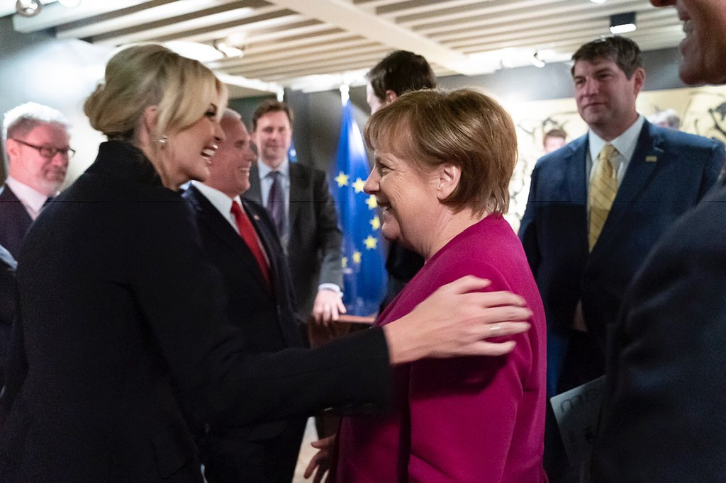 It was a pleasure to once again be w/ Chancellor Merkel. She is a tremendous champion of vocational ed + #WomensEconomicEmpowerment in both Germany & around the world. I have learned so much from her in our conversations & look forward to our continued work together. #MSC2019