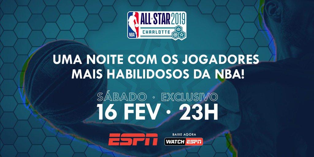 Hoje VAI SER O CAOS !!! @romulomendonca comanda o SÁBADÃO do ASG em Charlotte com o Torneio de Habilidades, 3-pontos & Enterradas !!! Estarei nessa também !!! E como convidados, os splash brothers do @Jllebasquete Felipe & Lucas Vezaro !!! #NBAAllStar #NBAnaESPN #ThisIsWhyWePlay