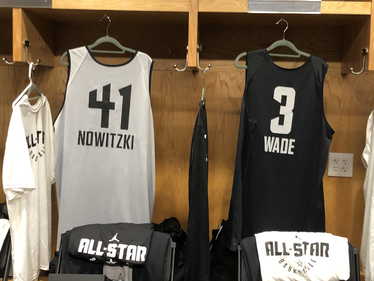 The legends!   #DirkNowitzki #DwyaneWade  #NBAAllStar
