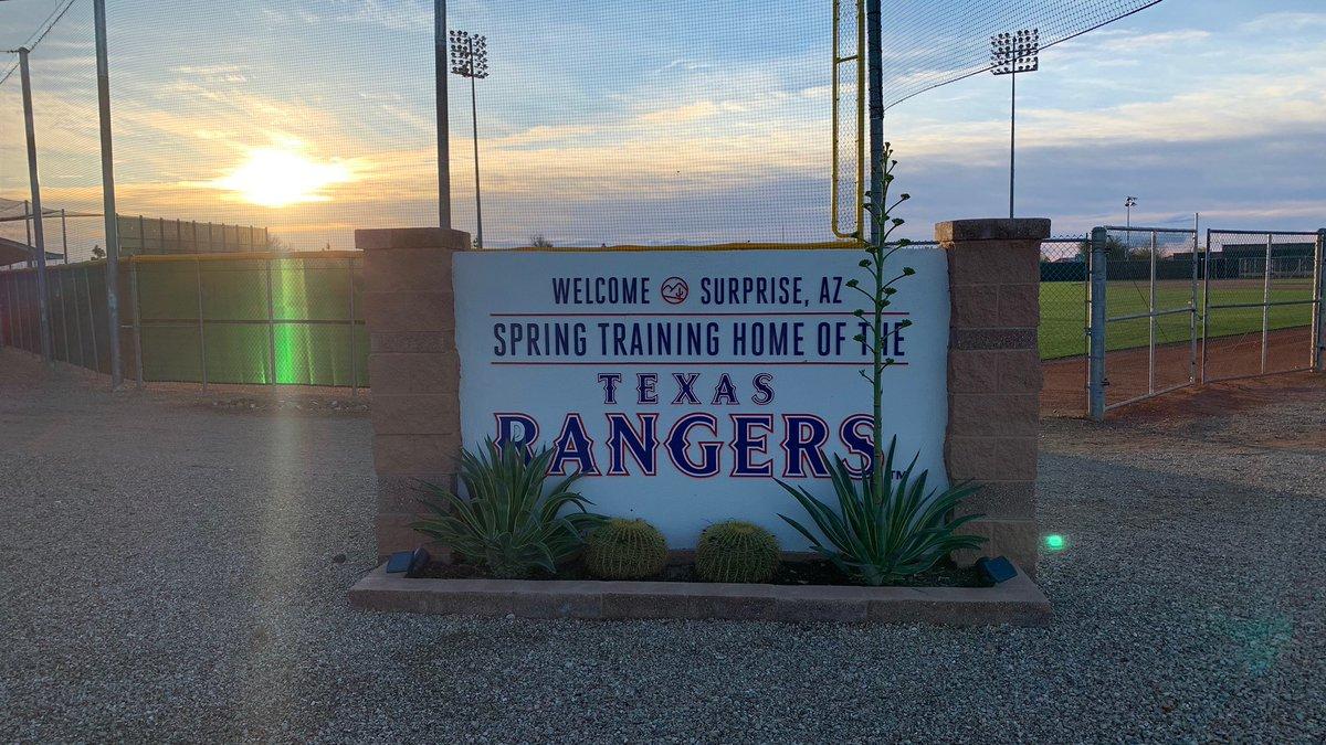 Good morning from Surprise, Arizona! #RangersST