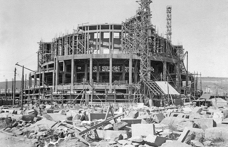 The construction of the Opera theatre began in 1930 on the outskirts of Yerevan, in the gardens to the north of the city. No one could imagine then that someday it would become the heart of downtown Yerevan.   Online course in Armenian architecture at AVC: http://bit.ly/avc-programs