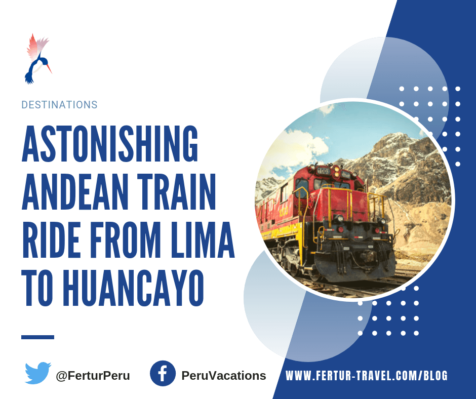 Take in the astonishing beauty of the Peruvian Andes aboard the #train ride from #Lima to #Huancayo on Peru's Central Andean Railway. More info at https://www.fertur-travel.com/blog/2019/train-ride-from-lima-to-huancayo/14105/…