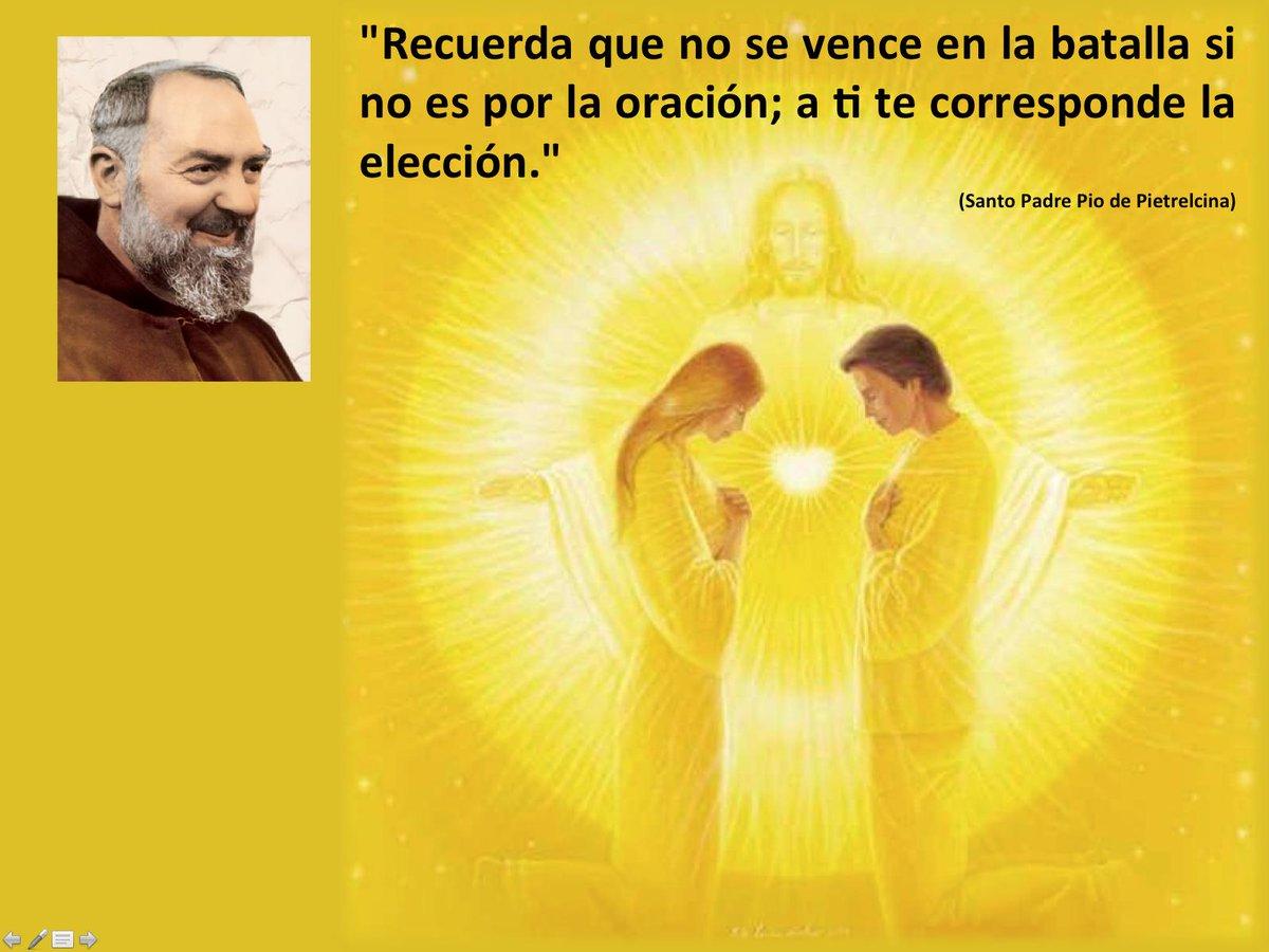 Cadenas De Oración Twitterren Frases De El Santo Padre Pío