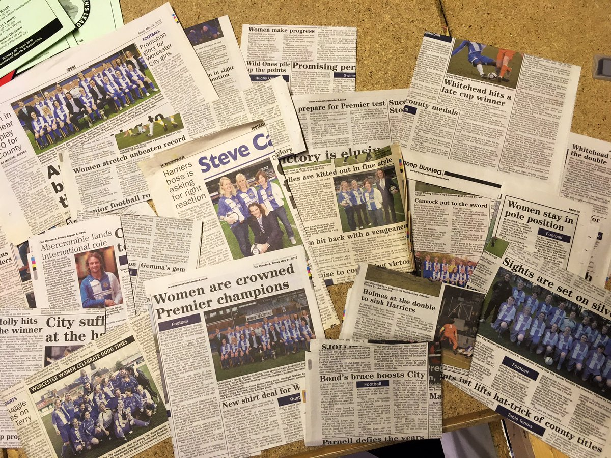 Trip up the loft and couldnt resist looking through the old scrap book from my Worcester City Womens Days. Remarkable thing is, the coverage by local press and particularly @worcesternews way back in 2009 and 2010, was outstanding for highlighting the women's game! #10YearJourney <br>http://pic.twitter.com/XAvdmwG3kC