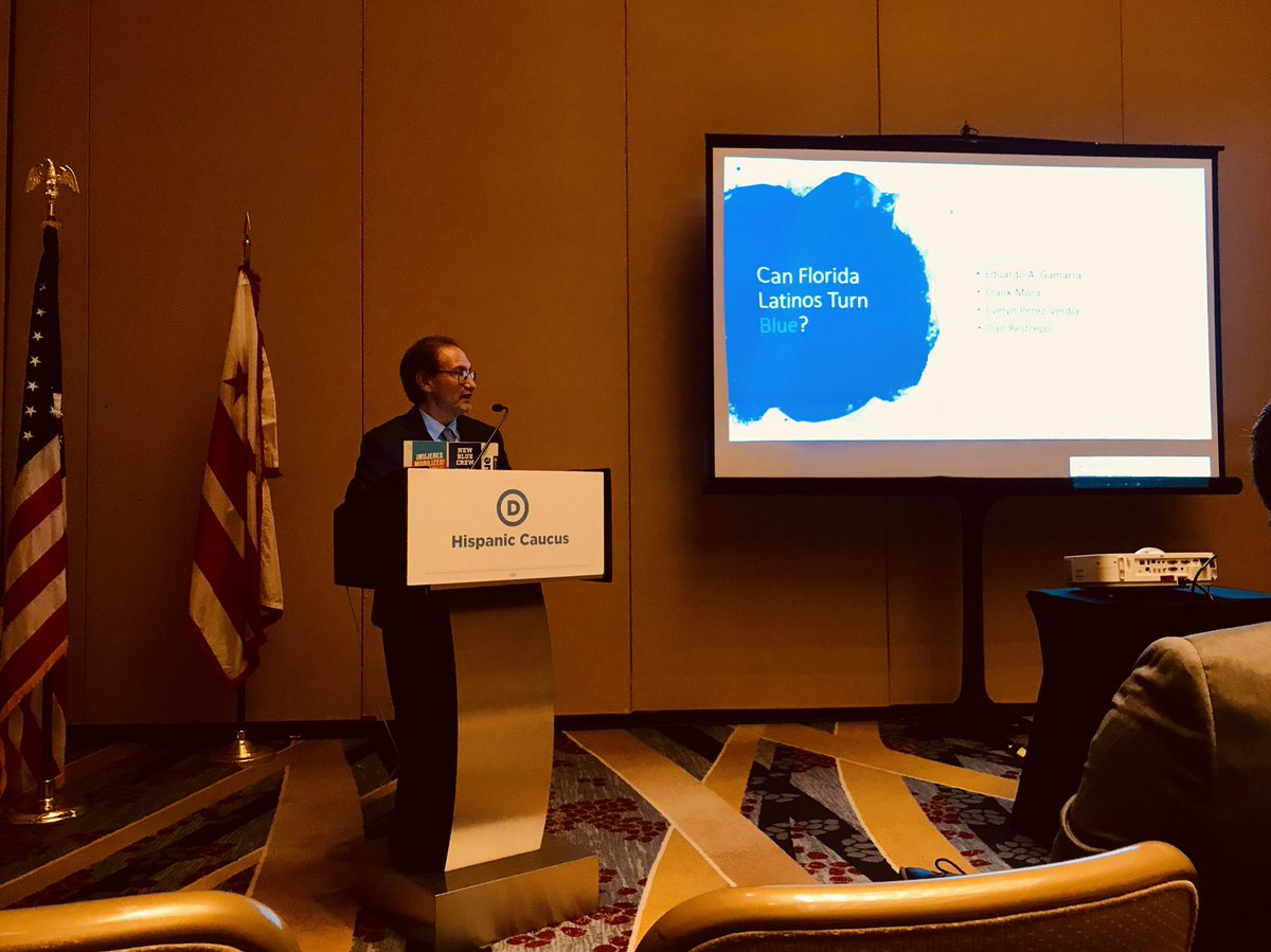 What an amazing @DNC Winter Convention. The leadership of @TomPerez & team in action makes us look forward to 2020. Gracias  @lecumberry @ILSenMartinez & the Hispanic Caucus for the invitation to share about Latinos in Florida. @gamarrae @dan_restrepo @FrankMora_FIU @lachicamayra