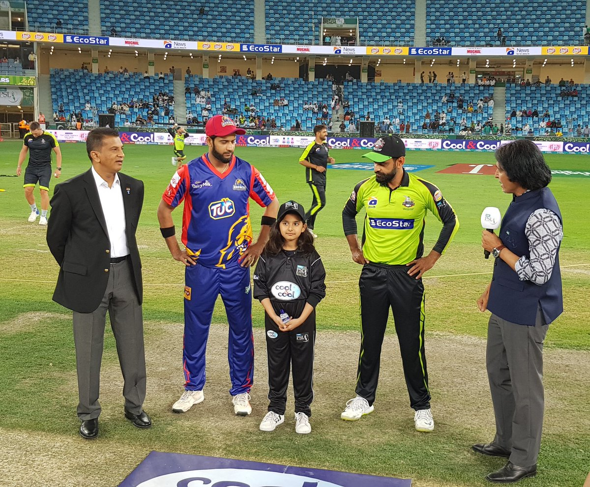 Karachi Kings won the toss and elected to field first against Lahore Qalandars at Pakistan Super League 4.🏏  #PSL4 #PSL2019 #PSL19 #HBLPSL2019