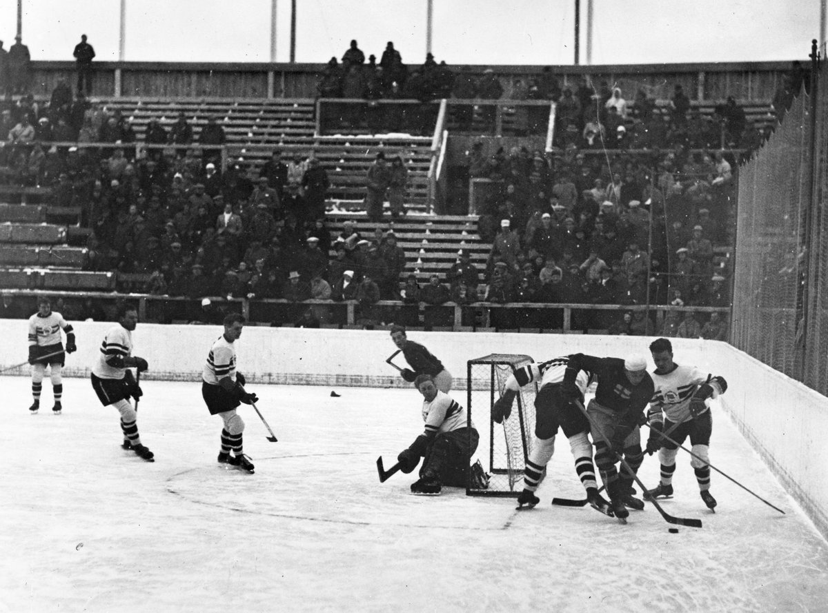 The ice kings 🥇  In 1936, our men's ice hockey team claimed Team GB's third ever winter sport gold