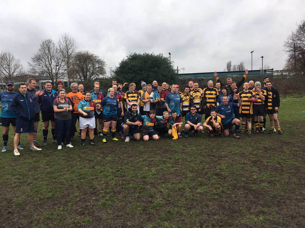As part of @premrugby #ProjectRugby we're introducing rugby to new audiences, and focusing on players' dis-ABILITY   Huge thanks to @WarriorsCF for  playing their part in 2 tough games for our VI & #mixedability sides!  (the UK's 1st VI match btw!) #MoreThanAGame #IAmARugbyPlayer