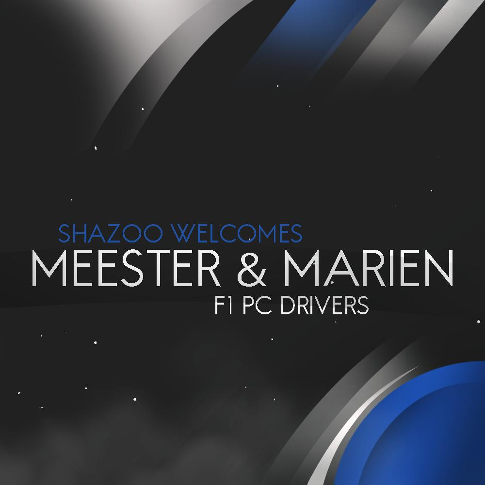 We are absolutely excited to welcome 2 new drivers onto our F! PC Lineup, expanding our team to 4 we are pleased to welcome @MMeester2 & @marienbierhuiz1 2 very quick drivers alongside our current boys!  Watc out for there 2 in the near future!   #CompeteWinRepeat #SHZF1