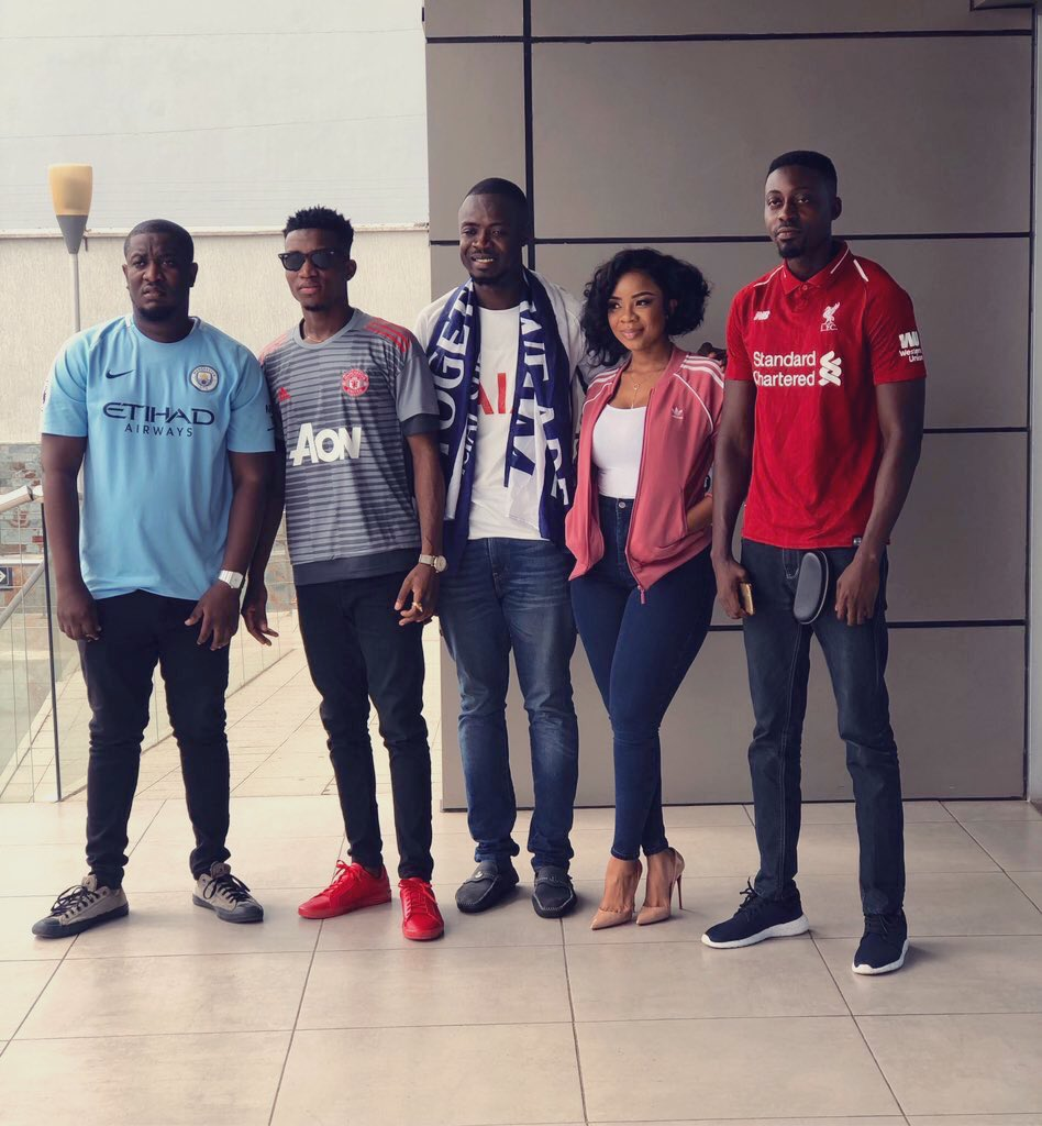 It was all fun on @GHOneTV Cheers Show with @Serwaa_Amihere and my other EPL Top 4 team reps. If you don't find your team, then I'm sorry. #GGMU #ManUtd #TeamMooove