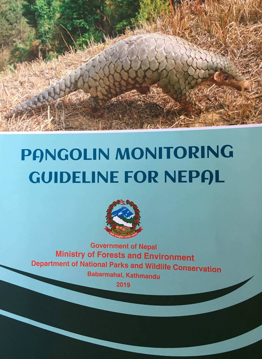on #WorldPangolinDay #Nepal addresses conservation and protection of #pangolins, a highly poached species, and publishes a &quot;Pangolin Monitoring Guideline for Nepal&quot; #EndWildlifeCrime <br>http://pic.twitter.com/tV5lTgYrus