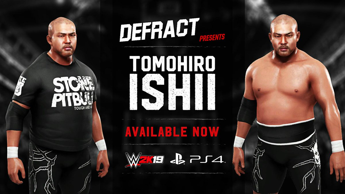 The #StonePitbull Tomohiro Ishii is available to download now on PSN use the search tags #Ishii #NJPW #Defract<br>http://pic.twitter.com/zbnv7IRNJ1