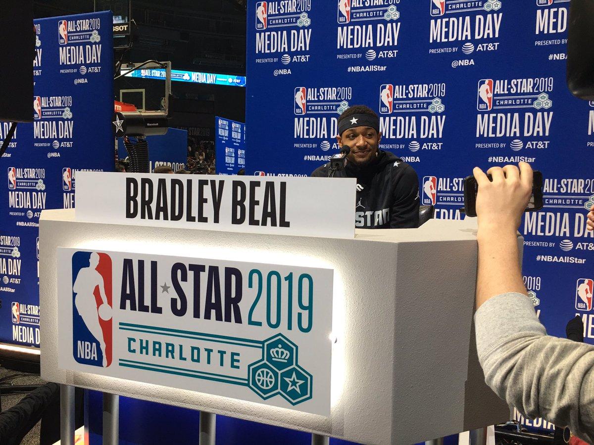 @RealDealBeal23 🐼 🏀#NBAAllStarMediaDay  #NBAAllStar #DCFAMILY