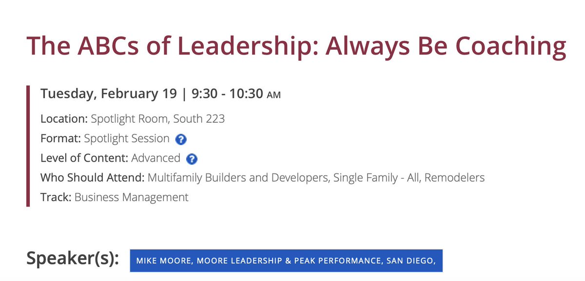 See you at the @IntlBldrsShow! #buildtrust #leadershipdevelopement #moorethoughts #keynotes #leadershipcoach #salescoaching #salesleadership #coaching #ibs2019 #homebuilding #homebuilders #homebuilder #newhomesales http://dld.bz/hppfQ