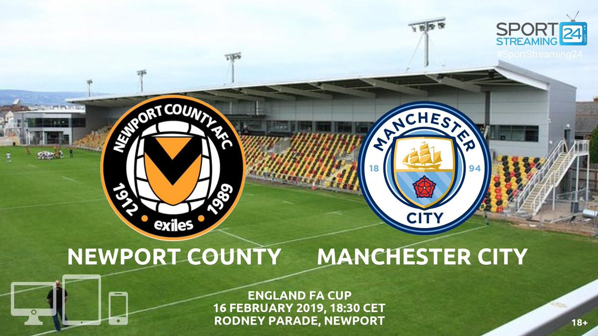 Watch  @NewportCounty 🆚 #ManCity live stream ⚽  ➡ http://bit.ly/newport-mancity   🖥    #NWPMCI #ManchesterCity #OneClubOneCounty  #NCAFC ⚫️🔶  #SportStreaming24  #livestream #FACup #EmiratesFACup #OurJourneyContinues #NewPortCountryAFC #Pep #Aguero #DeBruyne #Sterling