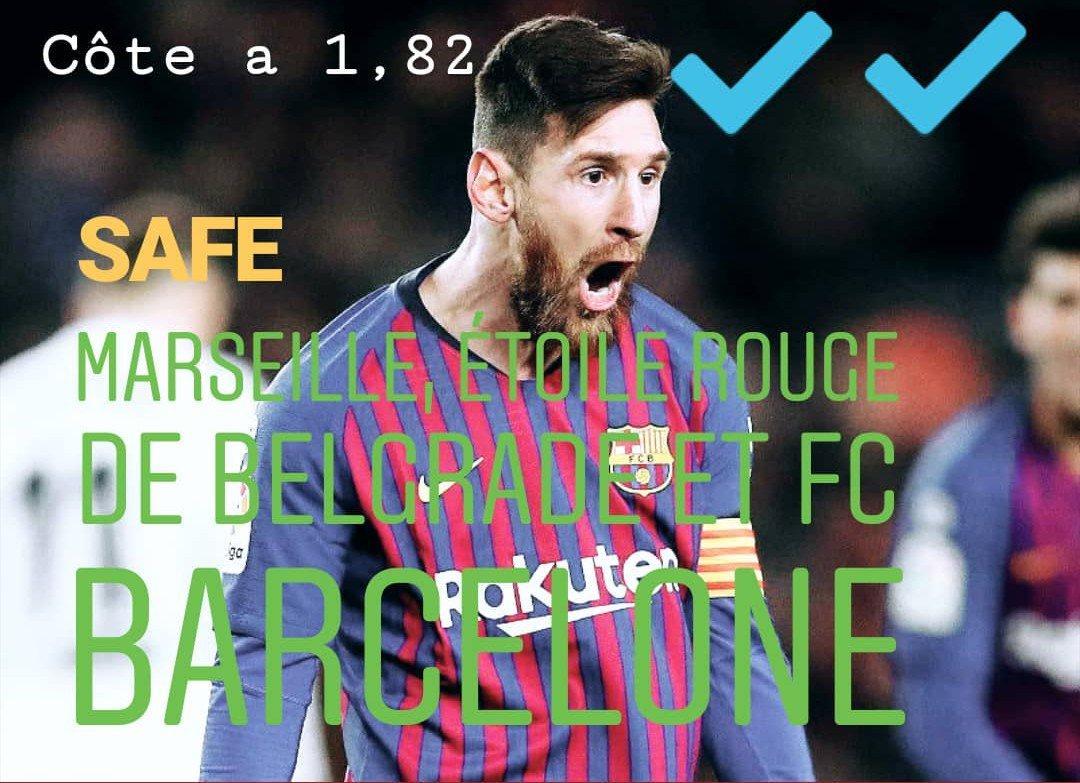 BOOM ! On valide le SAFE 💪💰🔥✔️  @OM_Officiel @crvenazvezdafk et @fcbarcelona_fra  #TeamParieurs #ForçaBarça #OMASC #LaLiga #Barcelona #BarcaValladolid #Balotelli #Barcelona
