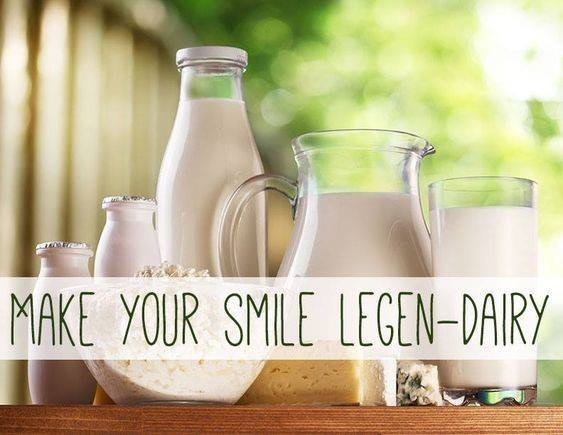 Dairy provides calcium for your teeth, and strengthens dental enamel. Are you getting enough in your diet? #miamidentists #oralhealth #health