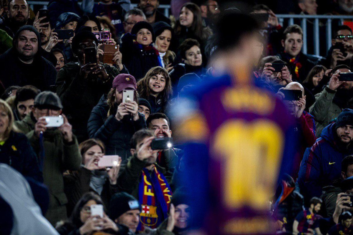 Una 📸 per al record 📍 Camp Nou 🐐 Leo #Messi