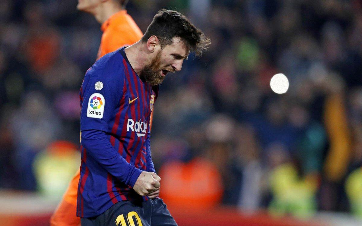 👑 Leo #Messi 🔥 😎 Artilheiro da @LaligaBra, com 22 gols ⚽️  😉 Quantos marcará até o final?  🔵🔴 #ForçaBarça
