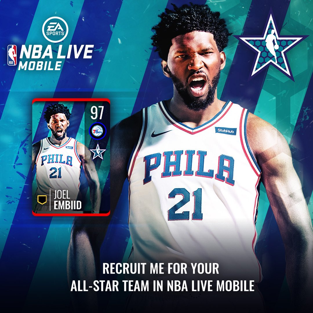 All-Stars are live now in @EASPORTSNBALM! Recruit me for your All-Star team in #NBALIVEMobile today!