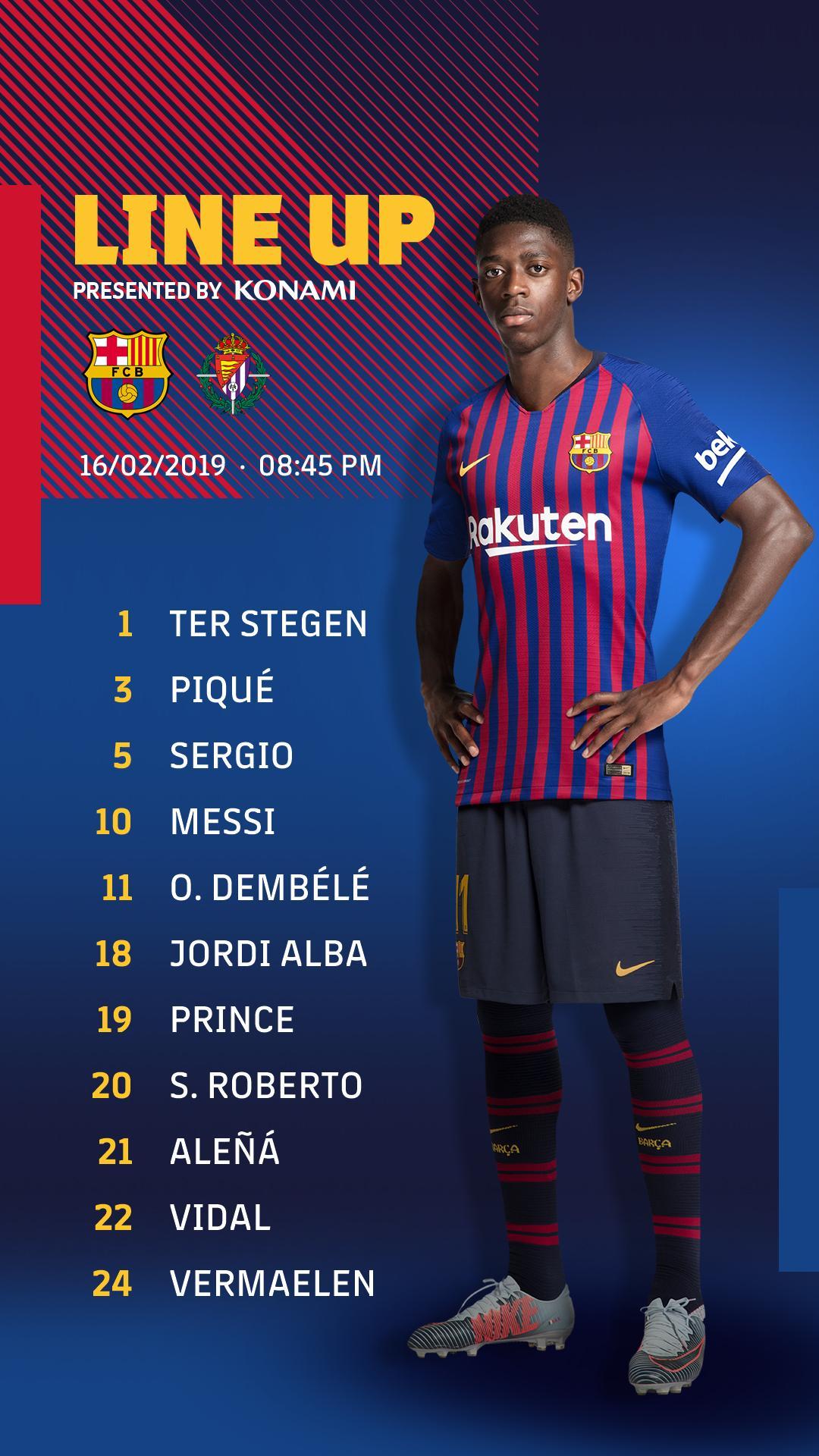 ���� Barça XI #BarçaValladolid https://t.co/zNFkkFpCqw