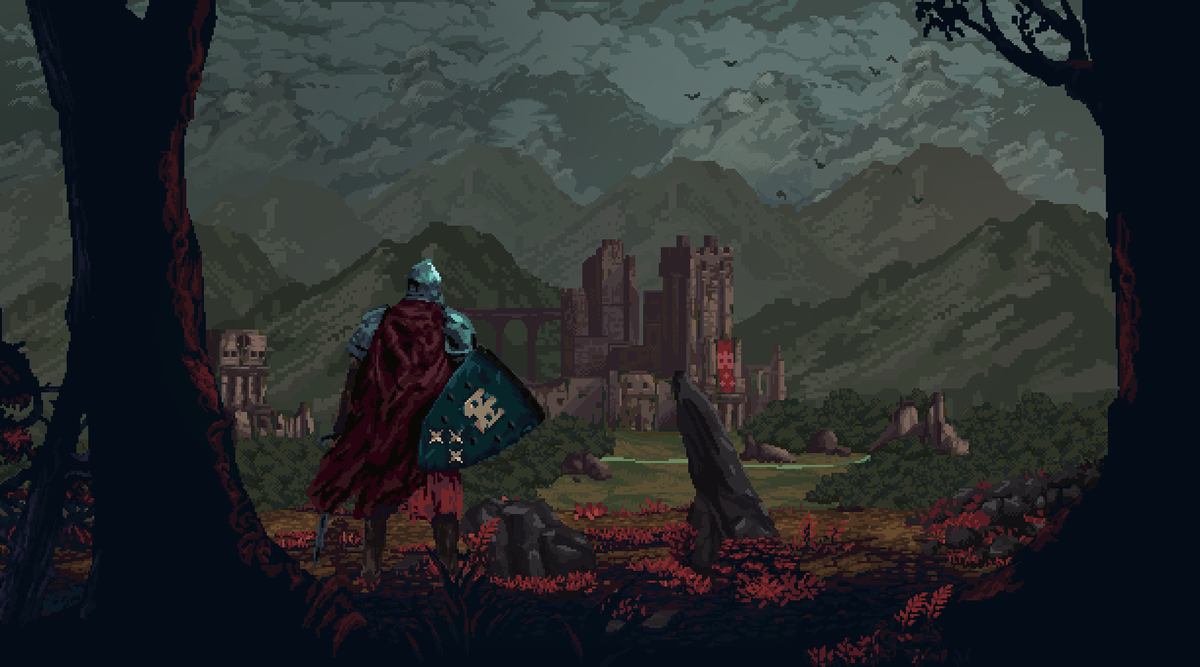 Logoless version for those interested in the picture. Everpath out on Steam:  http:// store.steampowered.com/app/1004560/Ev erpath_A_pixel_art_roguelite/ &nbsp; …  … … #pixelart #gamedev #indiedev #ドット絵<br>http://pic.twitter.com/dT3NnhUiBs