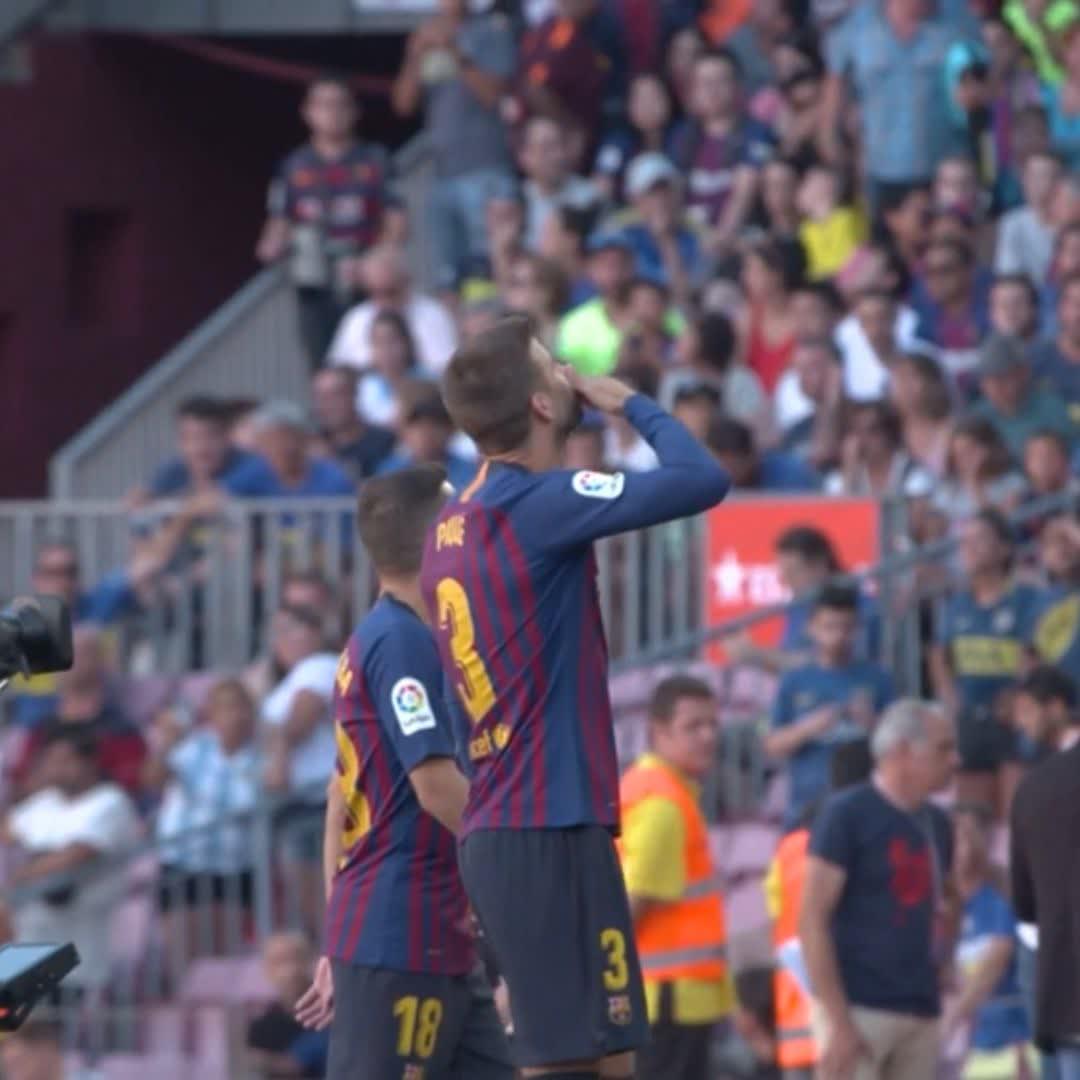 BİR STOPERDEN DAHA FAZLASI!  📅 2008 – 2019 ⚽ @3gerardpique, Barça formasıyla La Liga'da 3⃣0⃣0⃣. maçına çıkıyor 👏 👏 👏