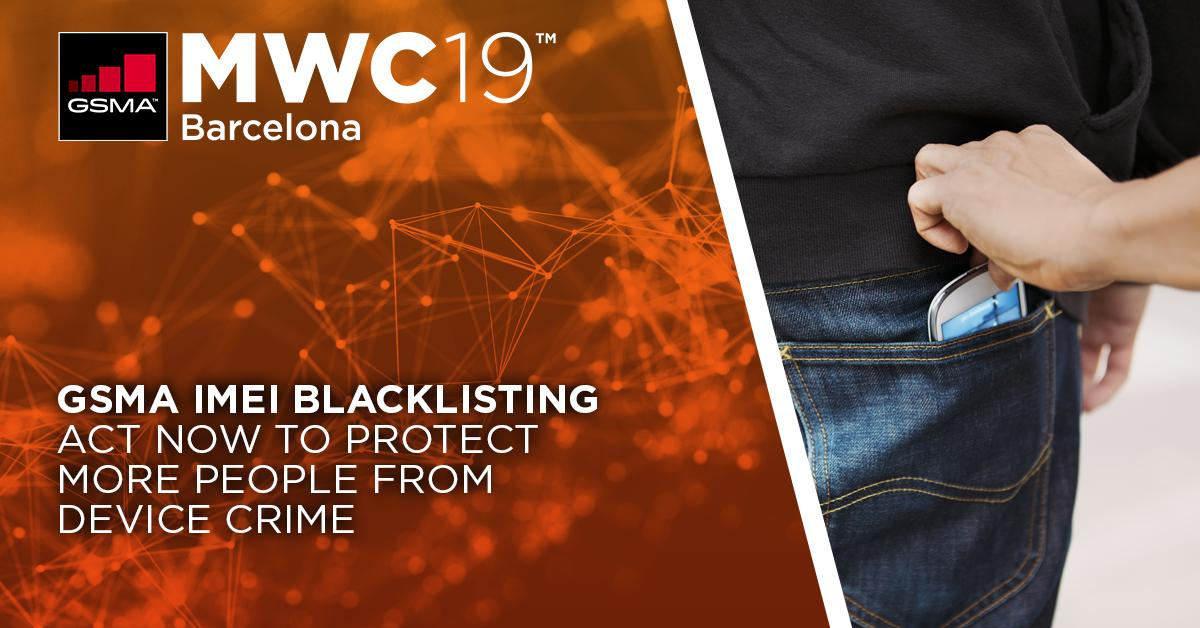 GSMA #IMEIBlacklisting allows operators to spot and block reported stolen devices across multiple networks. 120 operators across 40 countries now share information through the IMEI Database every day. Meet the team at #MWC19 to find out more:  https://t.co/1lfUFOAJIa