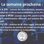 Image for the Tweet beginning: 🇫🇷🏛#DirectAN🏛🇫🇷 Semaine prochaine, la @AN_ComLois examinera