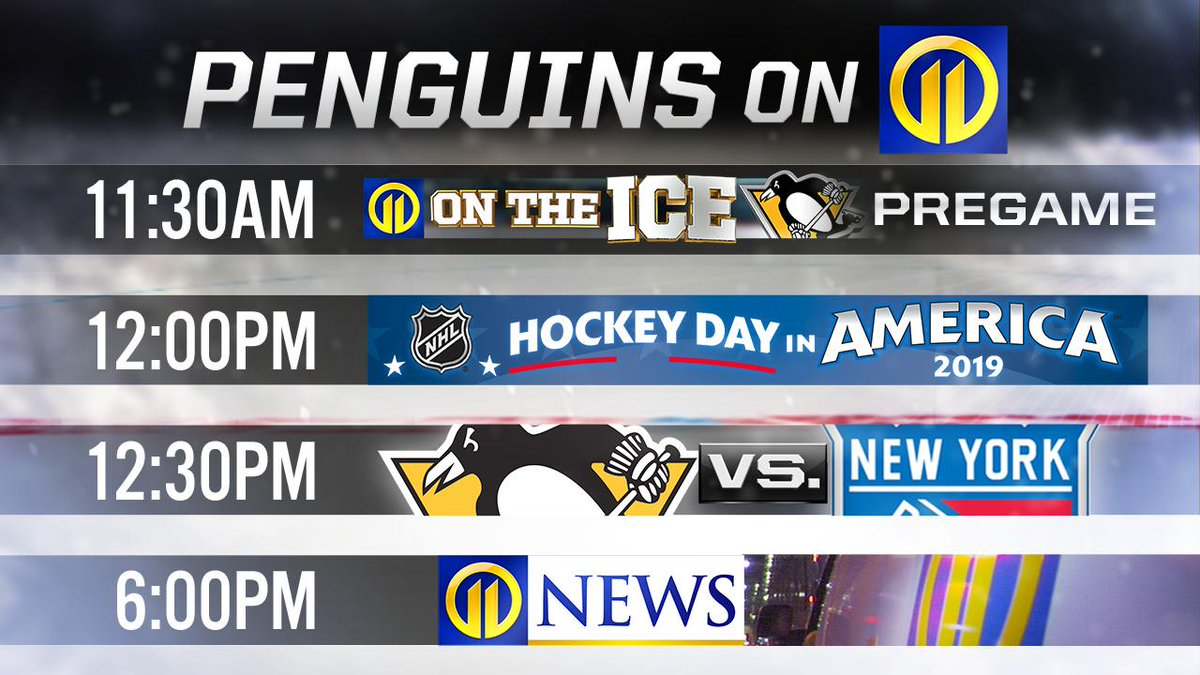 Got Sunday plans? You do NOW! 🏒 The @penguins play the @NYRangers on Channel 11. Our coverage begins at 11:30 a.m. https://t.co/PXZeXZoFLu   #wpxi