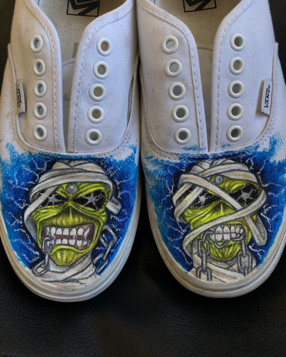 just painted myself some custom  IronMaiden vans 568122bccc3
